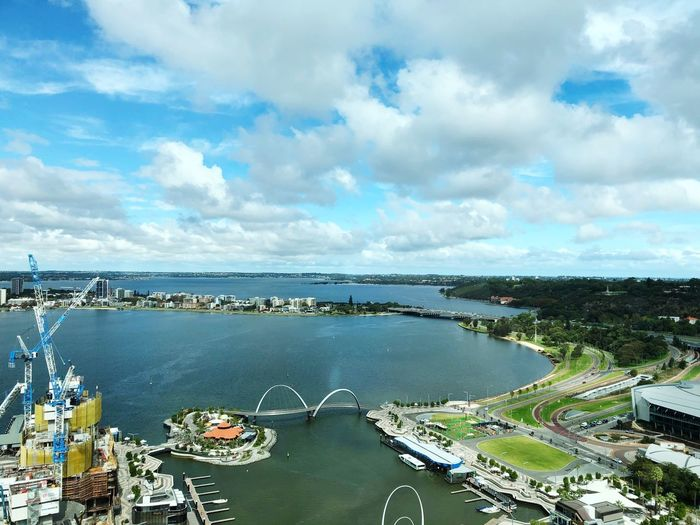 Beautiful Perth See Australia Cityscape View From Above Cloud - Sky Sky Water Outdoors Sea Scenics Day Tranquility Beauty In Nature Horizon Over Water Architecture City Nature