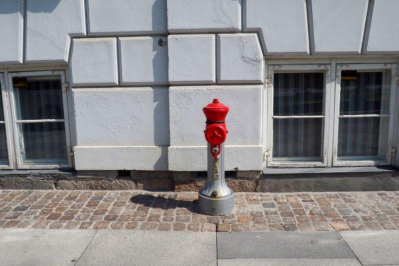 Fire hydrant on sidewalk