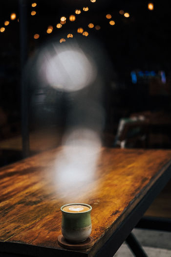 hot cappuccino ready to serve Coffee Cappuccino Bokeh Lights Wood - Material Wood Capture The Light Coffee - Drink Coffee Cup Drink Defocused Close-up Latte Wooden Beverage Caffeine Frothy Drink Froth Art Served