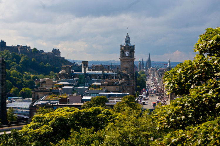 Calton Hill Architecture Building Exterior Built Structure City Cityscape Cloud - Sky Day Nature No People Outdoors Sky Tree