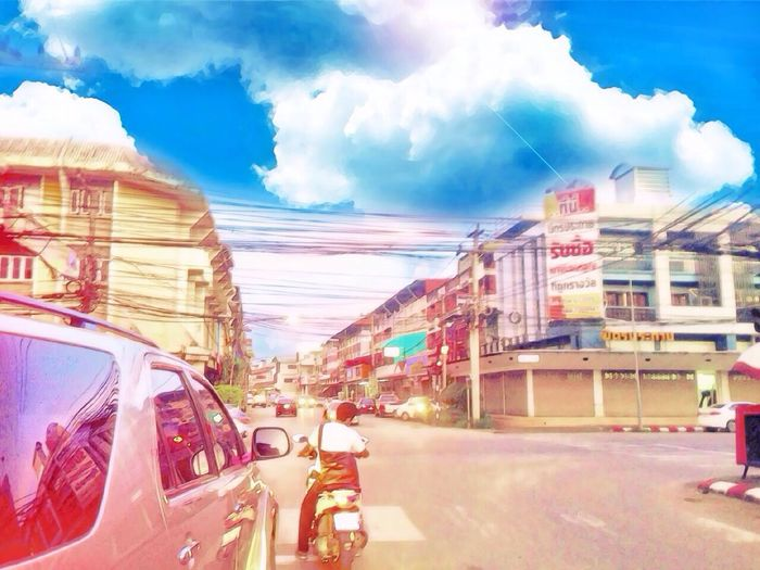 Sky Building Exterior Transportation Car City Built Structure Land Vehicle Cloud - Sky Mode Of Transport Outdoors Architecture Road No People Day
