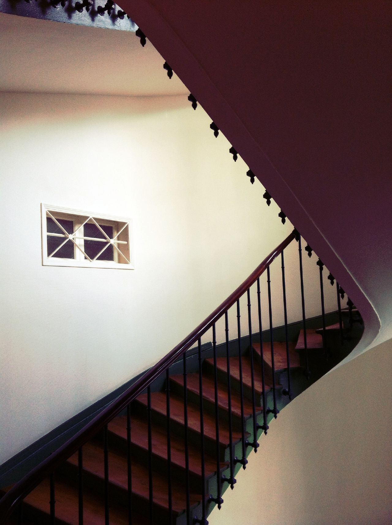 View of staircase in house