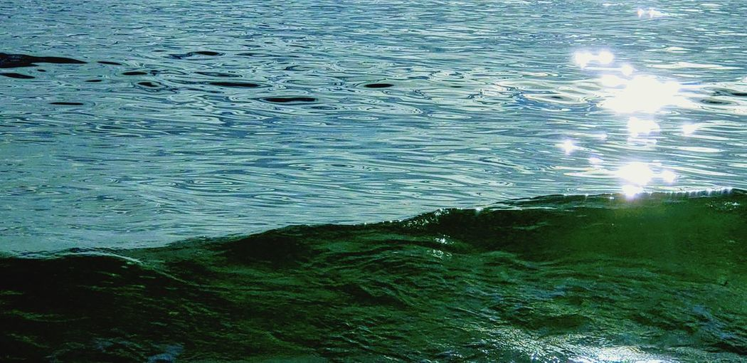 Water Sea Backgrounds Full Frame Rippled High Angle View Wave Blue Close-up Green Color