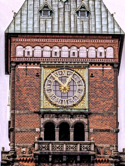 Denmark 🇩🇰🇩🇰🇩🇰 Wonderful Copenhagen CITYHAL Time Clock Architecture Built Structure Clock Tower Building Exterior Clock Face Roman Numeral Number Minute Hand History Town Hall Outdoors Arch Railroad Station Capital Cities  The Past HDR HDR Collection Fine Art Fine Art Photography
