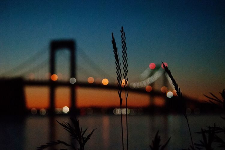 Colors Sunset Tranquility Bokeh Sky Nature Sunset No People Transportation Dusk Mode Of Transportation Travel Built Structure Clear Sky Outdoors Silhouette