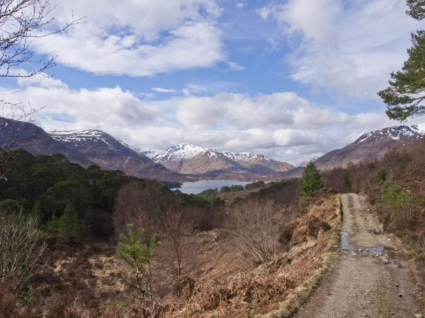 Glen Affric Loch Affric Scotland Walk Beauty In Nature Cloud - Sky Clouds And Sky Day Direction Environment Lake Landscape Mountain Peak Mountain Range Mountains Nature No People Outdoors Plant Road Scenics - Nature Sky Snow Covered Tranquil Scene Tranquility