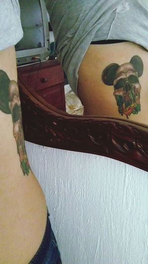 Bodytattoo Tattoo Calavera  Indoors  Day One Person Human Body Part Adult Close-up People