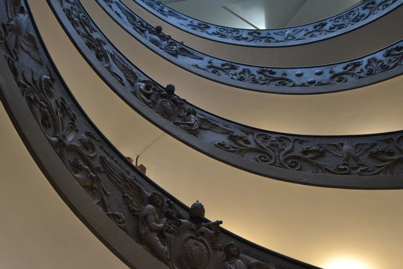 Vatican Museum (Rome, Italy) Spiral Architecture Photography Architecture Details Dettagli Stairs Scale  Citta Del Vaticano Musei Vaticani Vatican Vaticano Rome Roma Architecture Built Structure Low Angle View No People Railing Indoors  Staircase Steps And Staircases Design Building Architectural Feature Close-up Spiral Staircase Curve History Spiral Ornate