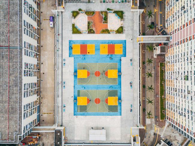 Court DJI Mavic Pro Tennis Architecture Basket Building Exterior Built Structure City Day Dji Multi Colored No People Outdoors Tennis Court