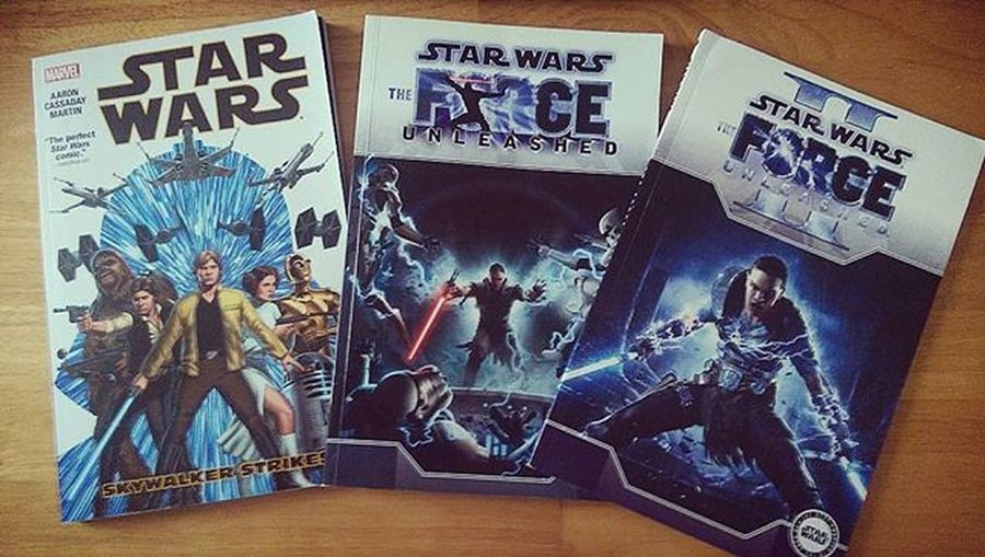 Getting back into the comic book game. Force Unleashed II - isn't all that good and quite disappointing so much like the game. It focuses on Boba Fett instead of Galen Marek. Force Unleashed - good story with Proxy and Eclipse playing the role of telling the story explaining to Bail Organa why Starkiller aka Galen Marek did what he did. Art work is ok but not as impressive at Skywalker Strikes. Star Wars vol. 1: Skywalker Strikes, on the other hand was really enjoyable and the art work is impressive. Not bad paying £10 for all 3. Starwars Marvelcomics MarvelStarWars SkywalkerStrikes Lukeskywalker Hansolo Forceunleashed Galenmarek Darthvader Bobafett ForceUnleashed2 StarWarsCollector StarWarsComics