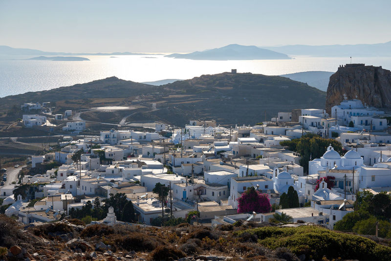 Amorgos Chora Amorgos Amorgos Chora Architecture Building Building Exterior Built Structure City Cityscape Community Crowded Day Greece High Angle View House Mountain Mountain Range Nature Outdoors Residential District Sky Town TOWNSCAPE