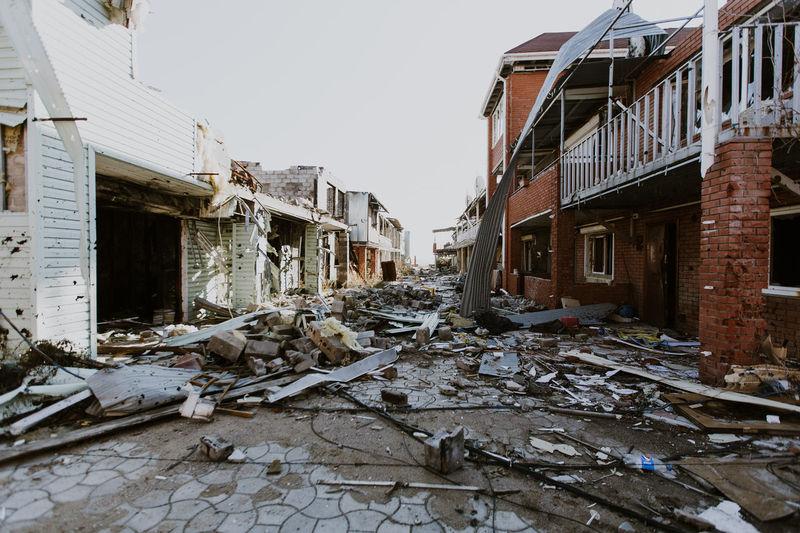 Day Destruction Gun House Mine No People Russia Ukraine War