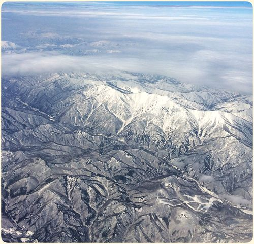 A post from my Flickr 365: 96/365 - Snowcaps Japan Niigata Flyswiss LX161 On The Move Starting A Trip Traveling EyeEm Nature Lover From An Airplane Window Mountains