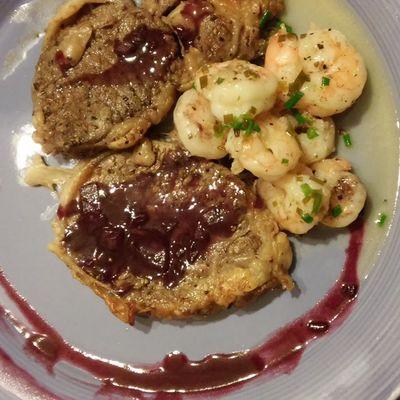 Yumm Yummo Steak and Shrimp with a RedWinereduction... my BeautifulGoddess @cristykaos did it again.... StarboyAndKaos Delicious Starboy Stardust Starlust StarboyStyle CauseImAStar