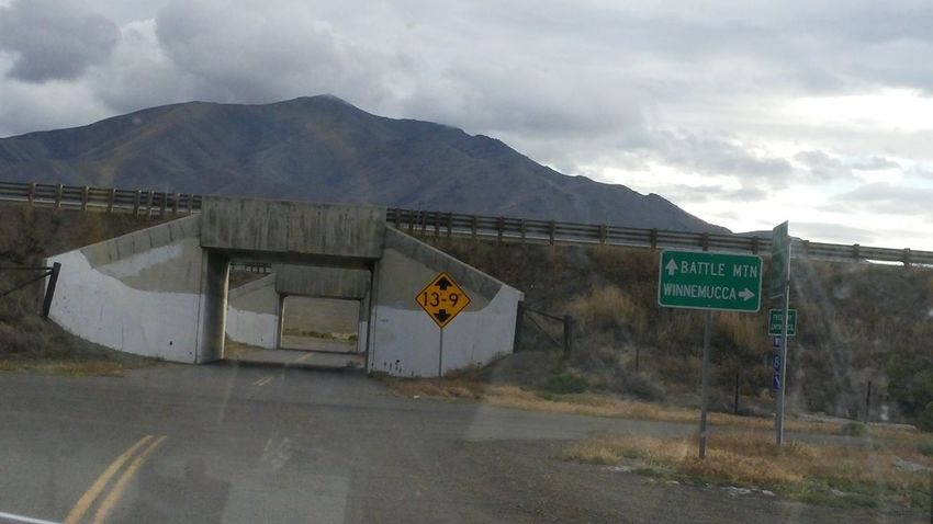 Bridge Built Structure Mountain Range No People Outdoors Road Sign Underpass