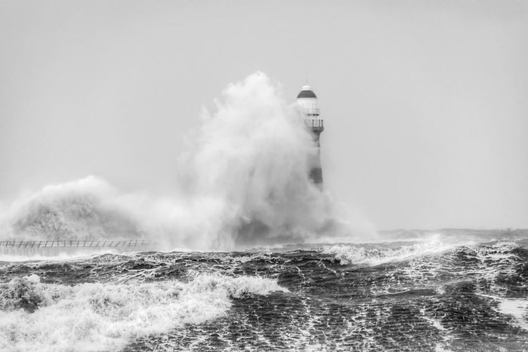 Nikon Photography Nikon NORTHEASTENGLAND Coast Seaside Sea Power In Nature Water Motion Wave Nature Force Breaking Day Beauty In Nature Crash Rough No People Horizon Over Water Outdoors Hitting Waterfront Lighthouse RISK
