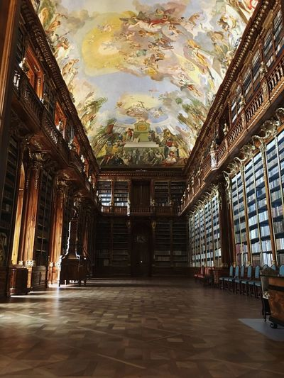 Strahovský klášter Book Library Indoors  Architecture Built Structure No People Building Flooring Reflection