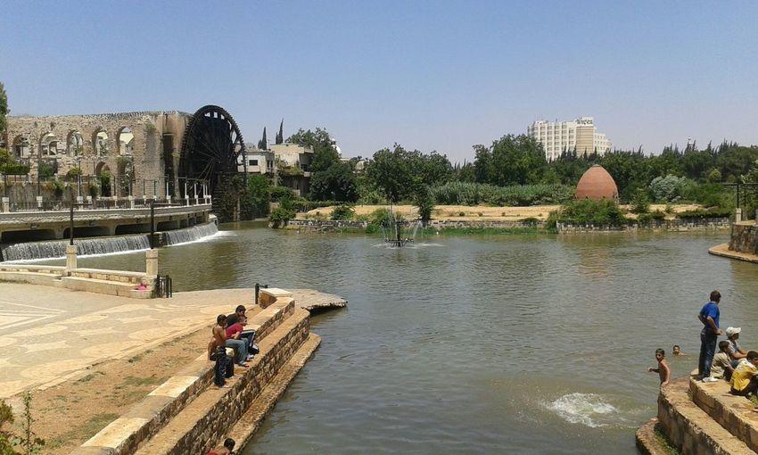 اطلات حديقة ام الحسن علئ نهر العاصي