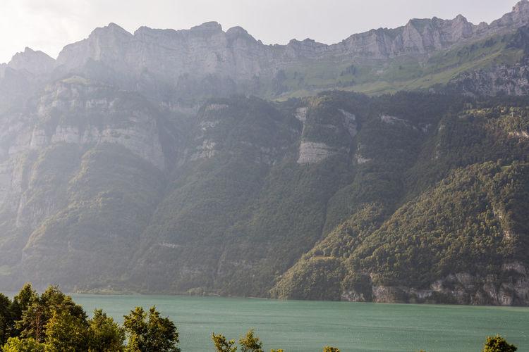 Clouds Day Lake Lakeside Majestic Mountains Nature No People Outdoors Sunny Switzerland