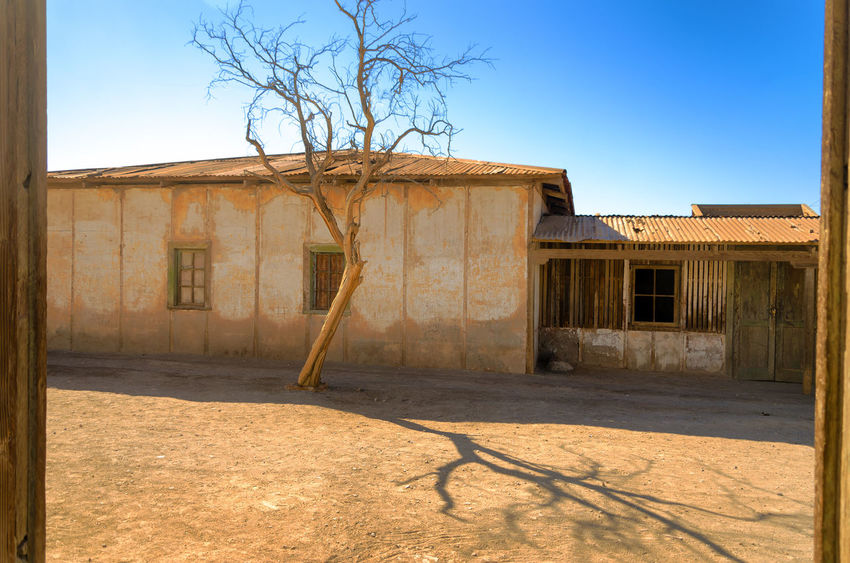 Ruins of the UNESCO World Heritage site of Humberstone, Chile America Architecture Atacama Building Chile Derelict Desert Heritage Historic Houses Humberstone Industrial Industry Iquique Landscape Museum Nitrate Old Ruins Saltpeter Saltpetre South Town UNESCO World Heritage Site Work