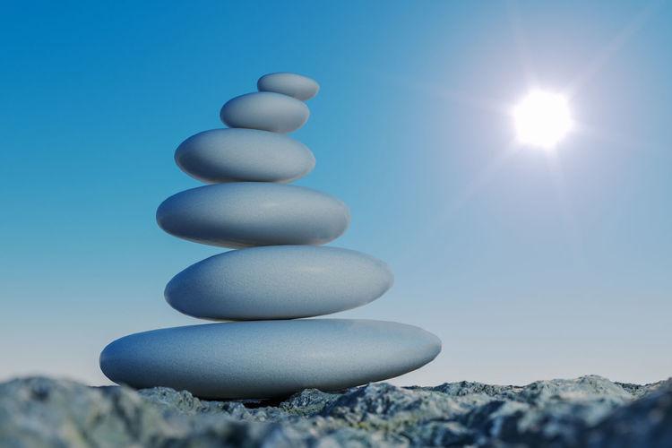 Zen meditation background,balanced stones stack