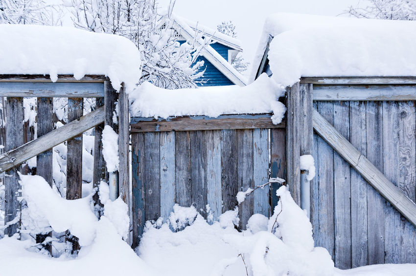 Beauty In Nature Built Structure Buried Cold Temperature Day Frozen Nature No People Outdoors Snow Snowing Weather White Color Winter Wood - Material