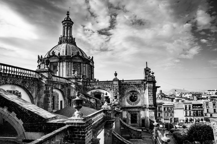 Mexico City Cathedral Architecture Blackandwhite Cathedral Church City Cloud Cloud - Sky Cloudy Day HDR History Mexico Mexico City Monochrome Old Outdoors Place Of Worship Religion Sky Travel Travel Destinations