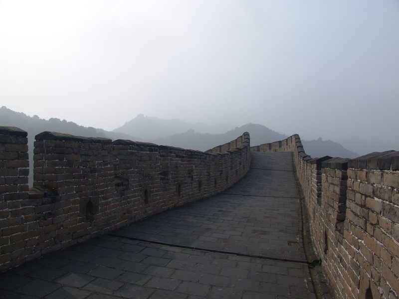 Architecture Beauty In Nature Brick Wall Building Exterior Built Structure Chinese Wall Clear Sky Day Great Wall Of China History Mountain Mutianyu Great Wall Nature No People Outdoors Sky The Way Forward Travel Destinations