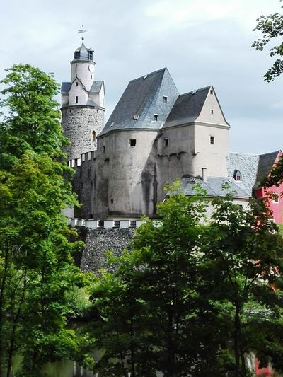 Burg Castle Hartenstein saxony germany Burg Castle Saxony Germany Historic Building Exterior Architecture Clock Tower History No People Outdoors Sky Tree Built Structure Day Urban Skyline Clock