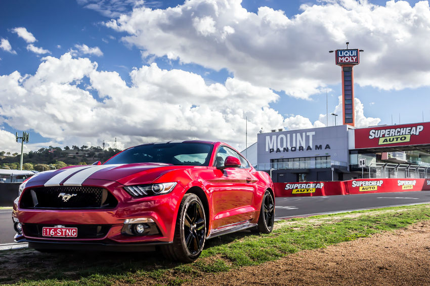 Took her for a spin down the famous tracks of Mount Panorama. Car Cars Mustang Race Racecar Racetrack Racetracks Racing