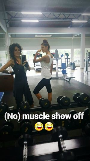 With my daughter :) Workout workoutgymfitness Healtylife Lifestyles Afterworkout Portrait Of A Woman Thats Me  Helo Hello Hanging Out