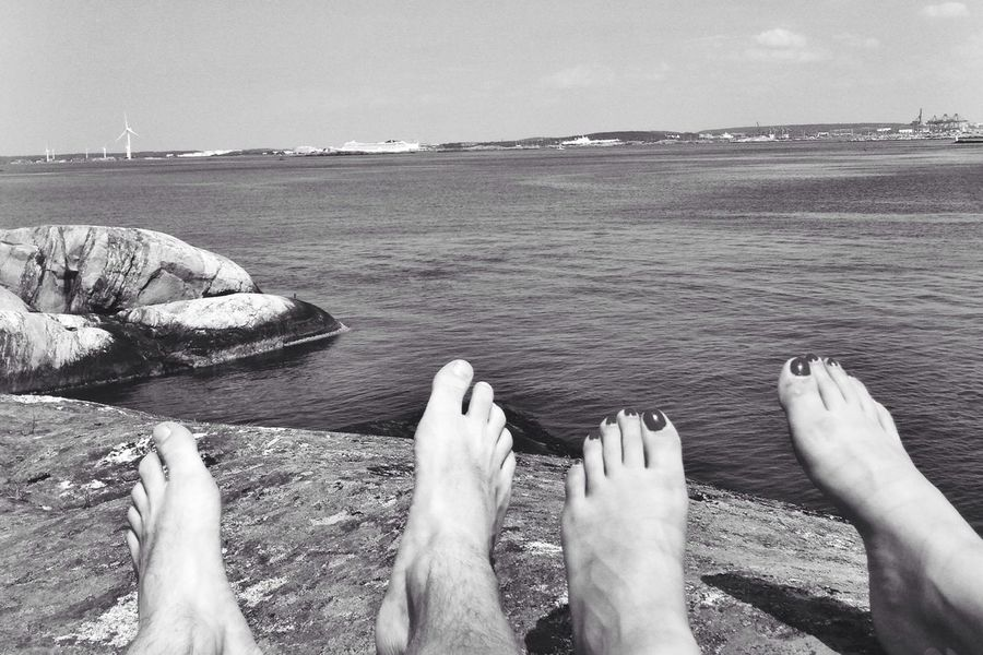 Hanging Out Enjoying Life Relaxing Blackandwhite