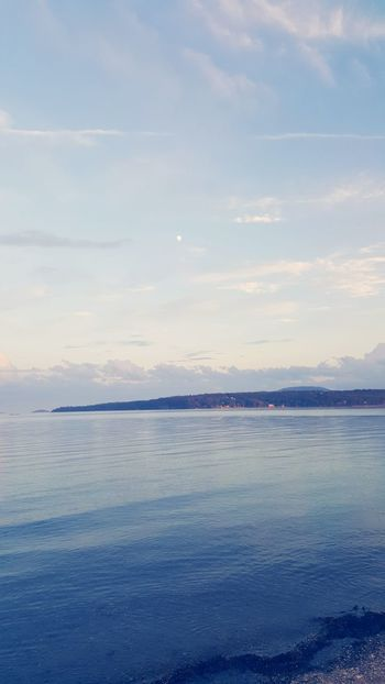 Water Tranquil Scene Tranquility Scenics Sky Sea Beauty In Nature Nature Cloud Idyllic Calm Seascape Cloud - Sky Blue Waterfront Non-urban Scene Remote Outdoors Day Solitude Beauty In Nature Springtime EyeEm Best Shots Check This Out Hello World