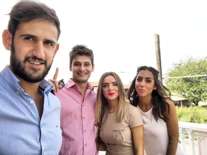 Looking At Camera Smiling Selfie Happiness Lifestyles Group Of People Friendship Love ♥ Wedding Day Weddingparty Sky Outdoors Togetherness Enjoying Life Food And Drink Still Life
