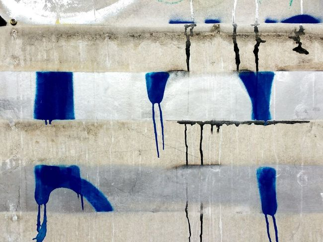 Blue Paint Full Frame Textured  Close-up No People Backgrounds Outdoors Day Forgottenspaces Building Exterior Textures And Surfaces Urbanartphotography Urbanphotography Graffiti Urban Landscape Multi Colored Wall - Building Feature Graffiti Wall Signofthetimes Paint Drips Missing