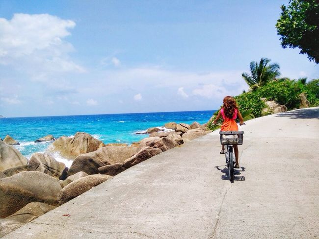 Showcase: February Iphonephotography Riding By A Ocean Holiday Island Beauty Bicycle Adventuring Seychelles Island Life The Tourist IPS2016Nature IPS2016Blue Celebrate Your Ride