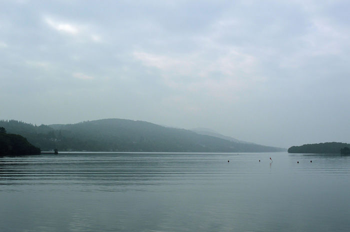 Cumbria Windermere Water Beauty In Nature Tranquility Lake District Natural Beauty Misty Misty Mountains  Mist Over Lake