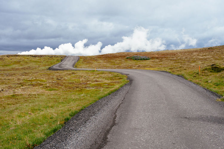 Road to Gunnuhver hot springs Winding Road Travel Scenics - Nature Road Landscape Direction Country Road Outdoors Nature Steam Geothermal  Geothermal Activity Hot Spring Iceland Environment The Way Forward Gunnuhver Hot Springs Volcanic Activity