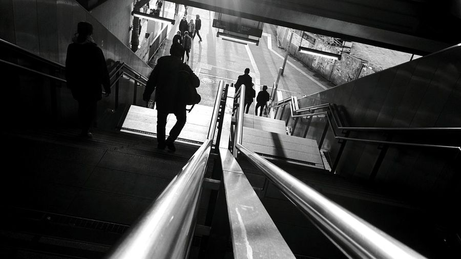 Day 293 - Down the stairs Berlin Blackandwhite Streetphotography Streetphoto_bw 365project 365florianmski Day293