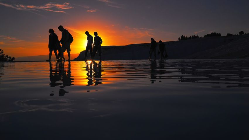 Sunset of Pamukkale Beach Beauty In Nature Denizli EyeEm Best Shots EyeEm Nature Lover Landscape Nature Outdoors Pamukkale Pamukkale/Turkey Reflection Silhouette Sky Standing Sunset Tourism Travel Travel Destinations Turkey Water Out Of The Box EyeEmNewHere Sommergefühle EyeEm Selects The Week On EyeEm