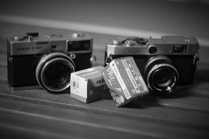Camera - Photographic Equipment Old-fashioned Olympus 35 SP Canon P Photographic Equipment Photography Themes Retro Styled SLR Camera Lieblingsteil