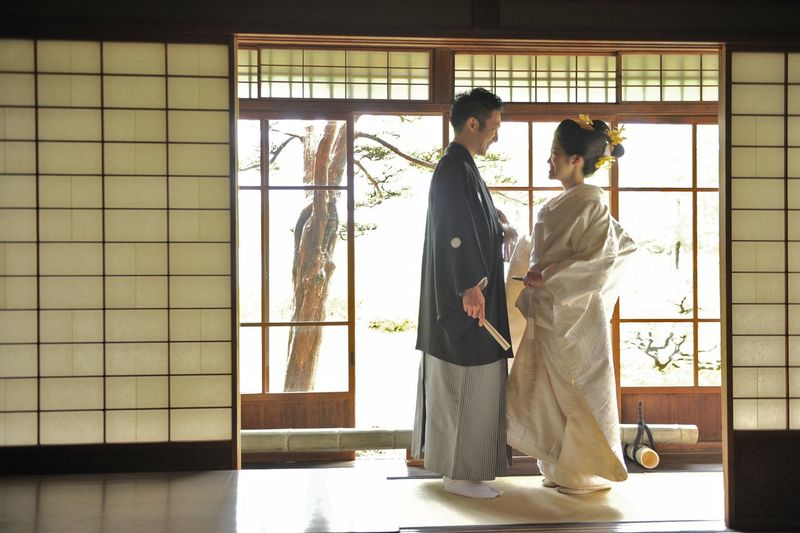 Japan Japan Photography Wedding Adult Architecture Beautiful Woman Couple - Relationship Full Length Indoors  Men Nature People Respect Robe Side View Standing Traditional Clothing Two People Window Women Young Adult