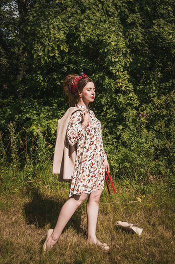 One Person Grass Full Length Tree Outdoors People Day Front View One Girl Only Standing Nature Freshness Fashion No Filter Beautiful People Models Brown Hair Females Lifestyles Fashion Model Full Frame Women Beautiful Woman Nature Young Women EyeEm Ready   Fashion Stories