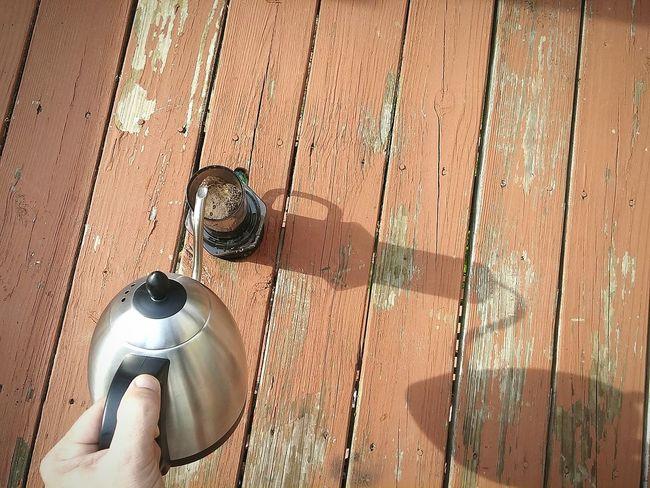 Pour Coffeetime Saturdaycoffeeshot SimpaticoCoffee Aeropress Pourover Decklife Cheers