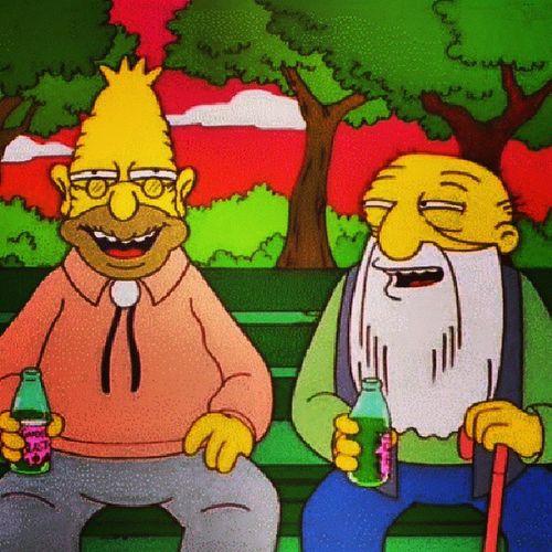 симпсоны дед угарает наркомания