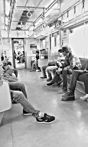 Commuterline Night Train People Men Adult Sitting Full Length