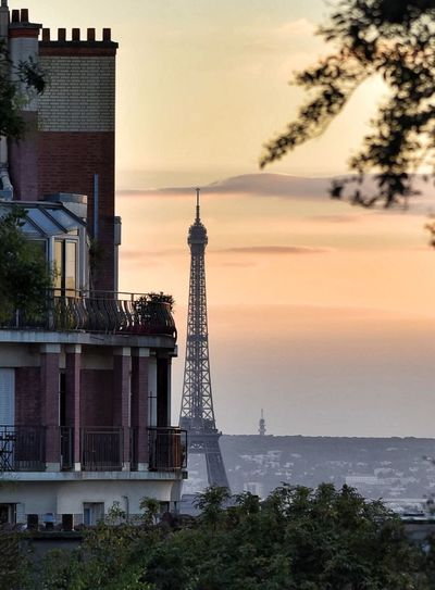 Sunset Architecture Built Structure Sky Tower Building Exterior Tree Travel Destinations Water Outdoors History No People Cloud - Sky Nature Sea City Horizon Over Water Beauty In Nature Nautical Vessel Day EyeEm Gallery EyeEmNewHere EyeEmBestPics EyeEm Best Shots Tour Eiffel