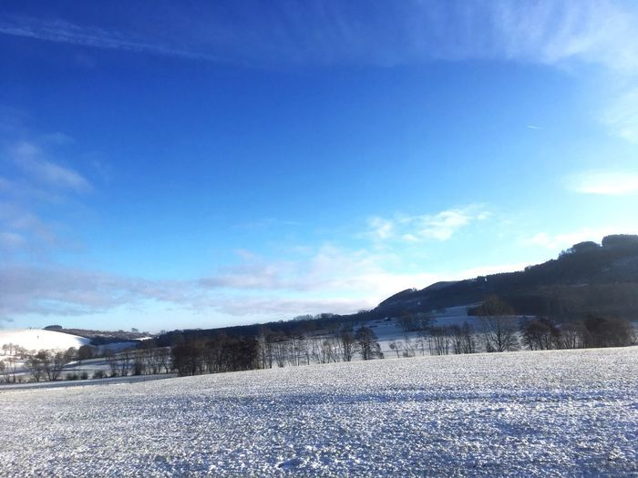 Sky Snow Winter Cold Temperature Nature Cloud - Sky Scenics - Nature Beauty In Nature Day Landscape Outdoors
