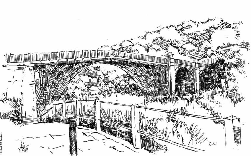 Art Sketches Iron Bridge Kaay