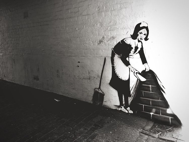 Sick Banksy style graffiti in Banbury Iphone6 Sick DOPE Urban Banbury Banksy Graffiti